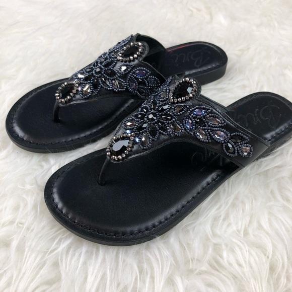 Brighton Shoes - Brighton Anju beaded thongs leather embellished 6